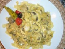 Tagliatelle an schnellem Champignon-Curryrahm - Rezept