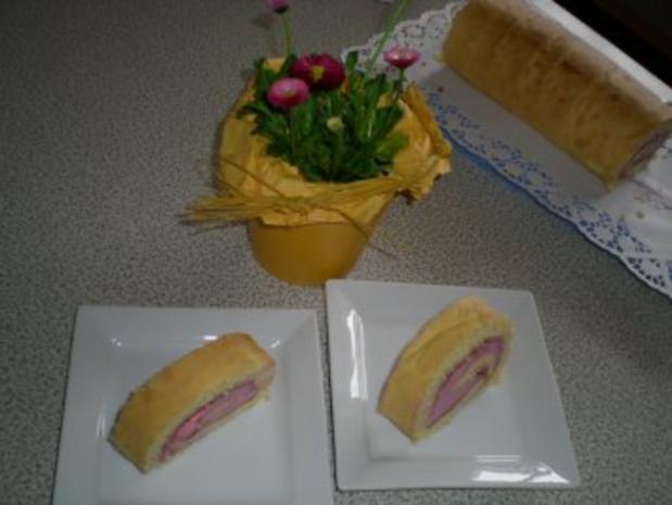 Grundrezept: feine Biskuit Roulade  - Rezept - Bild Nr. 8