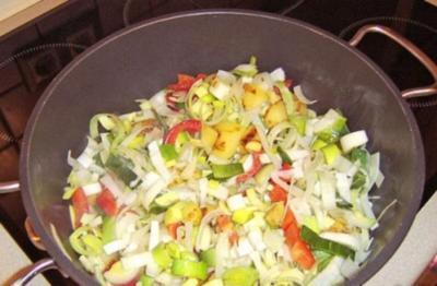 Rezept: Gemüsepfanne mit Schweinefilet