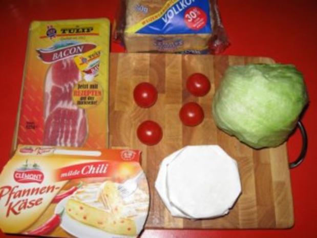 Pfannenkäse auf Toast - Rezept - Bild Nr. 3