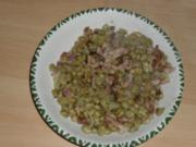 Dicke Bohnen mit Speck und Zwiebeln - Rezept