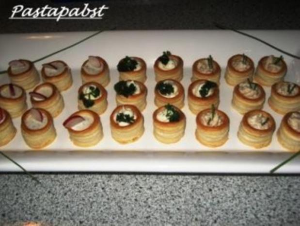 Antipasti-Blätterteigpasteten mit Thunfischcreme - Rezept - Bild Nr. 2