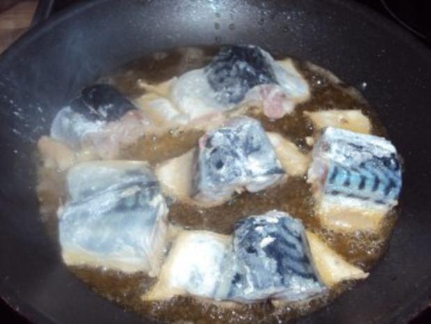 Makrele gebraten mit Zwiebeln - Rezept - Bild Nr. 2
