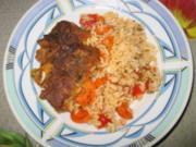 Schweinefleisch mit Reis im Ofen - Rezept