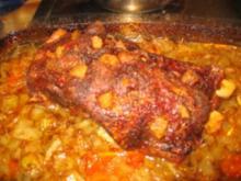 Fleisch: Gespickter Schweinehals - Rezept