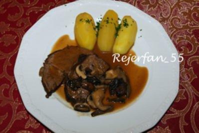 Schmorbraten mit frischen Pilzen - Rezept
