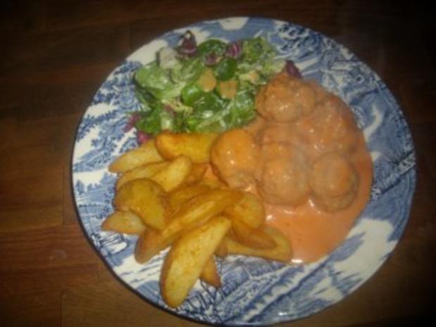 Hauptgericht / Kinderkochen: Zigeuner-Hackbällchen - Rezept