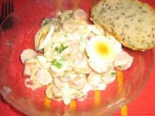 Eier-Radieschensalat mit Geflügelwienerle - Rezept