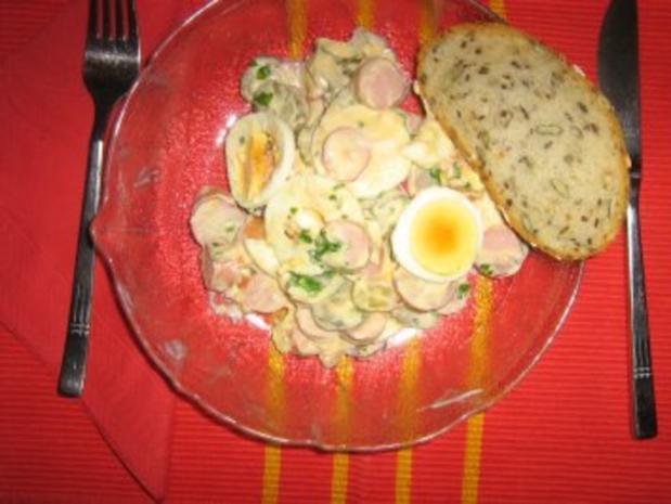 Eier-Radieschensalat mit Geflügelwienerle - Rezept - Bild Nr. 7