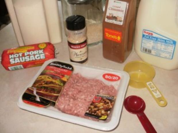 Schweinehack mit Bratwursthack - gebacken als Baellchen - kleine fuer Parties - Rezept - Bild Nr. 2