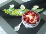 Quark- Himbeer-.Eierlikör - Dessert - Rezept