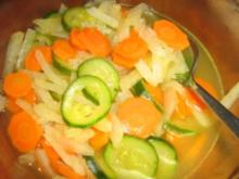 Karotten-Kohlrabi-Zucchini-Gemüse - Rezept