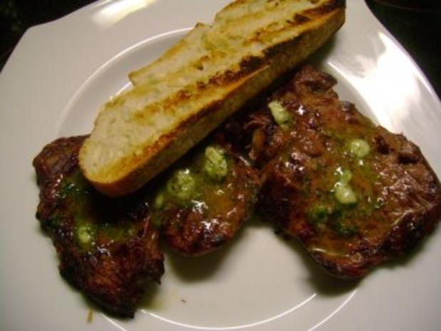 Grillen : Entrecôte mit Kräuterbutter - Rezept