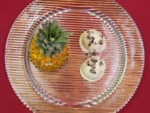 Selbst gemachtes Ananas- und Kokoseis - Rezept