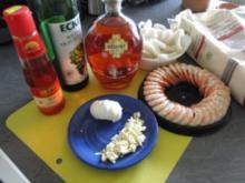 Nudelnester mit Tintenfischringe und Riesengarnelen              (Fotos) - Rezept