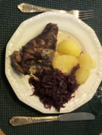 Kaninchen in Weißweinsoße - Rezept