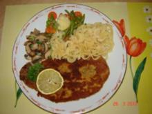 Fleisch : Kotelett paniert mit Beilagen (Bilder on...) - Rezept