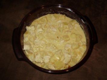 Putenbrustgeschnetzeltes mit Ananas - Zwiebel - Sahne - Soße - Rezept
