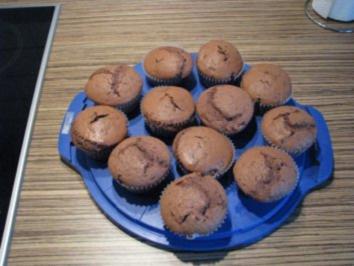 """Rezept: """"MUFFINS"""" Schokoladen-Muffins mit Moccabohnenstückchen"""