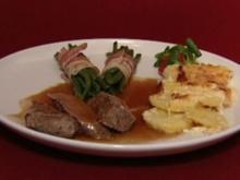 Lammrückenfilet mit Kartoffelgratin und Keniaböhnchen (Walter Scholz) - Rezept