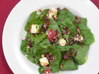 Spinatsalat mit Balsamicodressing - Rezept