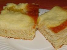 Hefekuchen mit Äpfel und Pudding - Rezept