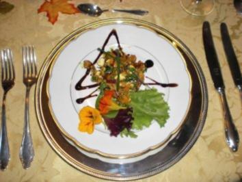 warmer Kürbissalat mit Schafskäse - Rezept