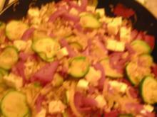 Weizen-Gemüse-Feta-Pfanne - Rezept