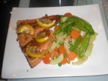 Lachsforelle mit feinem Gemüse - Rezept