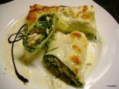 Fisch: Spinat Cannelloni - Rezept