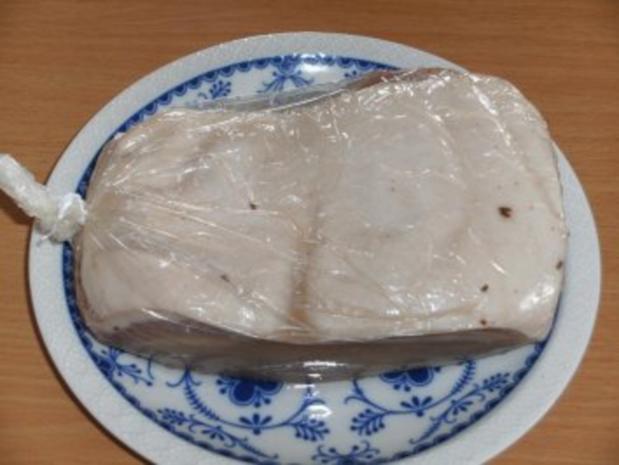 Wursten: Schweinebauch, gepökelt und gekocht - Rezept - Bild Nr. 4