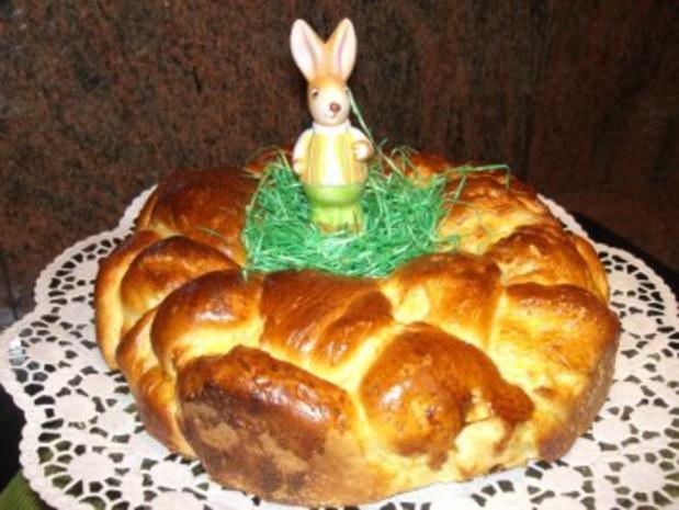 Hefe:   HEFEKRANZ zum Osterfrühstück - Rezept - Bild Nr. 2