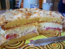 Kuchen/Torte...Erdbeer-Torte mit Mandel-Baiser - Rezept