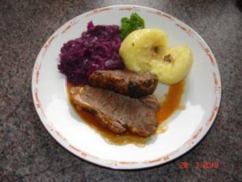 Fleisch : Rinderbraten mit Senfkruste - Rezept