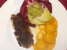 Rotbarsch in Estragonkruste mit Safrankartoffeln - Rezept