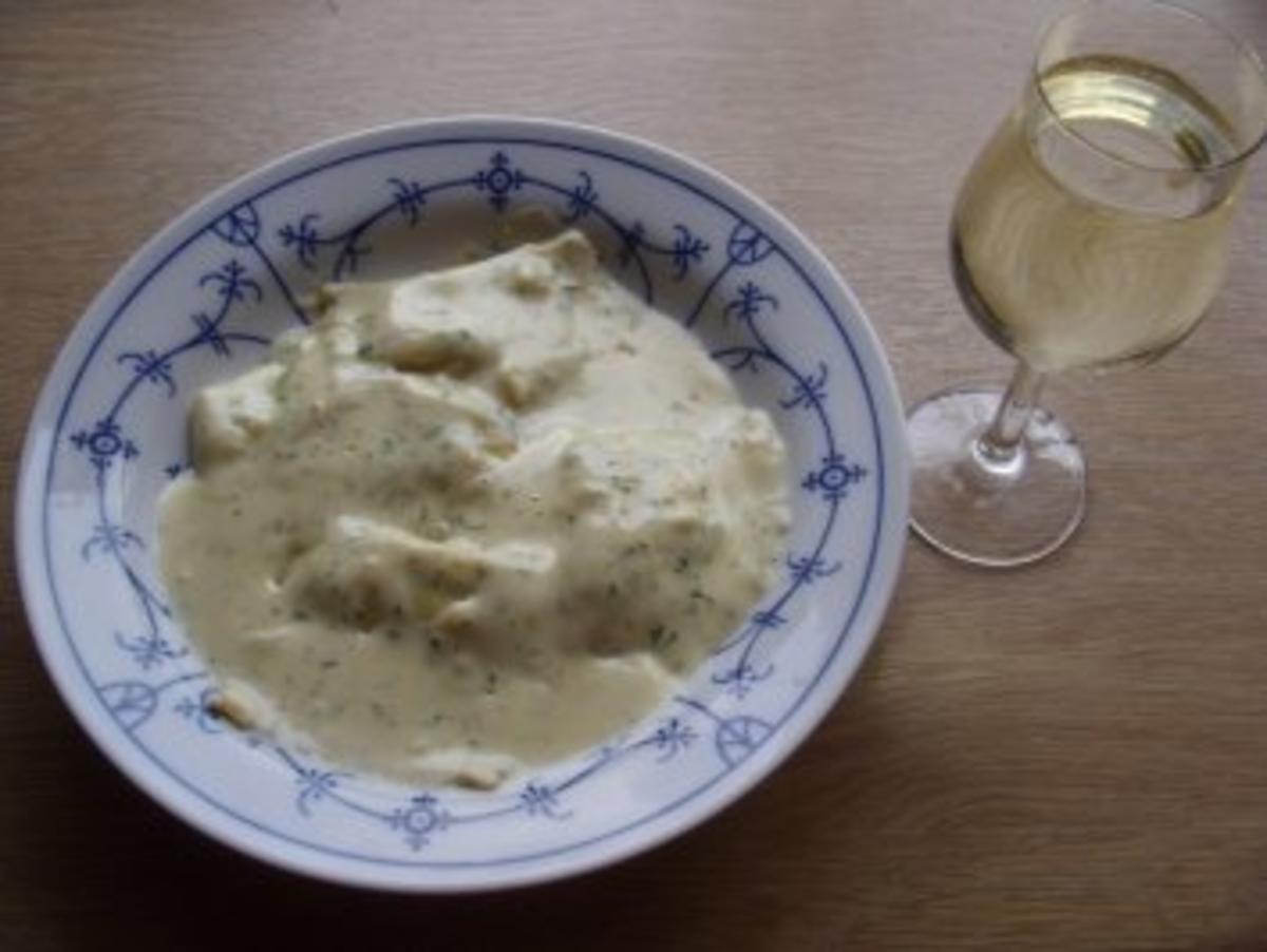 Sahne-Käse-Kräuter-Soße zu Käsemaultaschen oder Pasta - Rezept Durch gila47