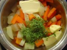 Butter-Kohlrabi-Möhren-Gemüse - Rezept