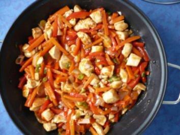 scharfes Hähnchen aus dem Wok - Rezept
