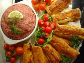 Party-Blätterteig-Käse-Snack - Rezept
