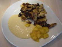 Sahneschmarren mit Amaretto und Vanille-Mango-Sauce - Rezept