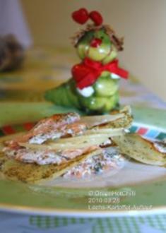 Lachs-Kartoffelgratin mit frischen Dillspitzen (mit Bildern und Raupi) - Rezept