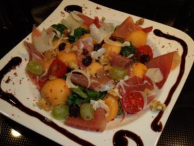 Fruchtiger Schinken-Melonen-Salat - Rezept