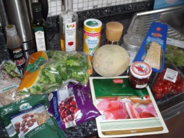 Fruchtiger Schinken-Melonen-Salat - Rezept - Bild Nr. 2