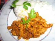 Gyros mit Tsatsiki (Zaziki) an Reis - Rezept