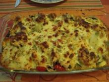 Tortellini, mit Mozzarella überbacken - Rezept