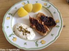 Minuten-Schnitzel mit Crème fraîche-Dip - Rezept