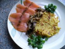 Lachscarpaccio mit Rösti - Rezept