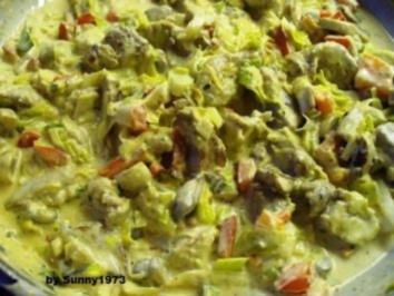 Geschnetzeltes in Frischkäsesoße - Rezept