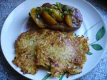 Pikante Pfirsichstücke auf Entrecôtes - Rezept