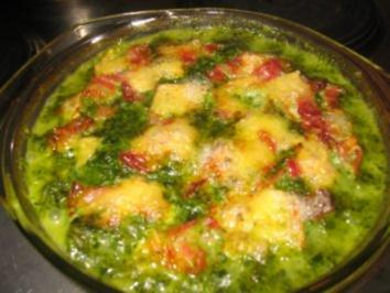 Auflauf: Spinat-Nudeln-überbacken! - Rezept